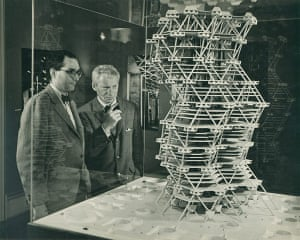 Louis Kahn: Louis Kahn in front of a model of the City Tower Project