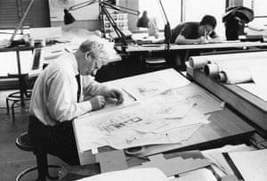 Louis Kahn: Louis Kahn working on Fisher House design