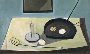 Still Life with Candlestick by William Scott