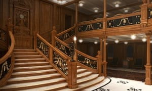 The grand staircase in the Titanic 2