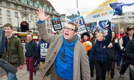 Hugh Fearnley-Whittingstall Fish Fight march Westminster
