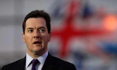 George Osborne with union flag