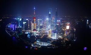 Shanghai City From The Sky