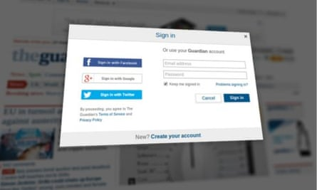 Google user? You can now sign in to guardian.co.uk with your account