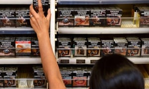 Australian cigarette packets with images of disease