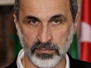 Syrian opposition coalition leader Moaz al-Khatib.