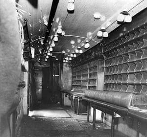 Bruce Reynolds: The interior of the mail van after the robbery