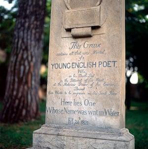 Ten best: John Keats grave stone in Rome Italy