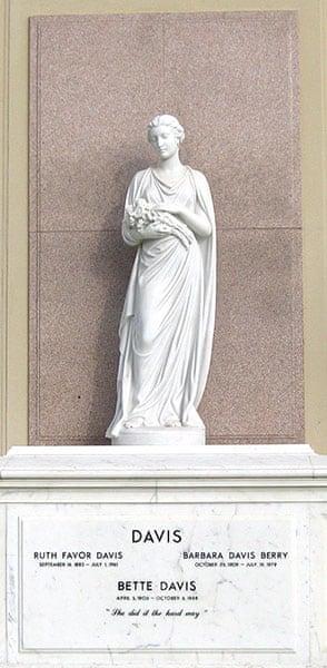 Ten best: Bette Davis grave
