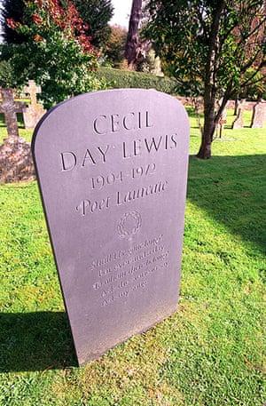 Ten best: Grave of Cecil Day Lewis in Stinsford Churchyard in Dorset Britain UK
