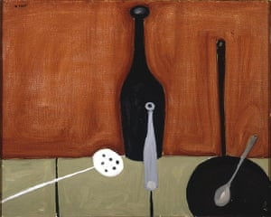 William Scott: Bottle and Fish Slice  by William Scott