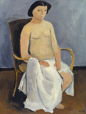 William Scott: Seated Nude by William Scott