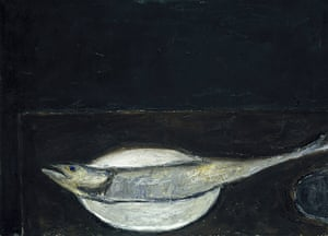 William Scott: Mackerel On A Plate by William Scott