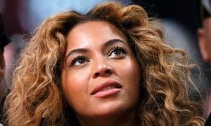 Beyonce at the NBA All-Star basketball game