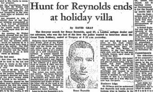1968 Guardian report on the arrest of the Great Train Robber Bruce Reynolds