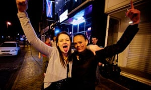 Kimberley Sweeney, left, and Sarah Swales out drinking in Blackpool