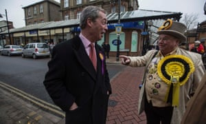 The Ukip leader, Nigel Farage, meets the leader of the Monster Raving Looney party, Alan 'Howlin' Laud' Hope