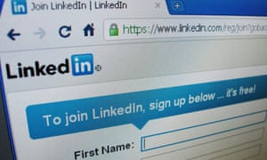 Linkedin.com sign-up page