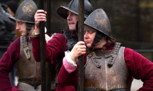 Sealed Knot re-enact beheading of Charles I