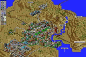 SimCity 2000 screen shot for MoMA