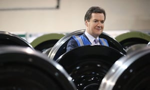 Chancellor George Osborne visiting Lucchini UK train wheel manufacturers in Manchester