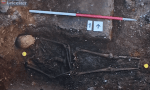 A skeleton that may be that of Richard III.