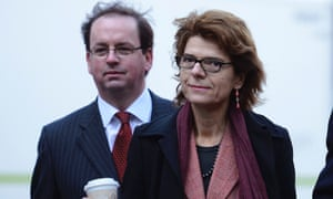 Vicky Pryce, the ex-wife of Britain's former energy secretary Chris Huhne arrives at Southwark Crown Court, London, February 4, 2013.