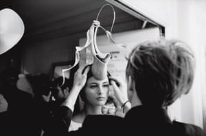 hat man gallery: Paris Fashion Week; haute coutre Orchid Collection, January 2000
