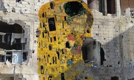 Tammam Azzam's version of Klimt's The Kiss