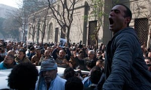 Egyptian protester's funeral
