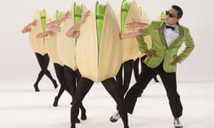 South Korean rapper Psy in a Super Bowl commercial for Wonderful Pistachios