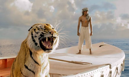 the tiger in Ang Lee's life of Pi