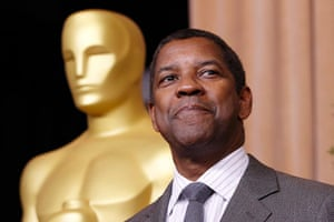 Oscars luncheon: Denzel Washington, nominated for best actor for his role in Flight