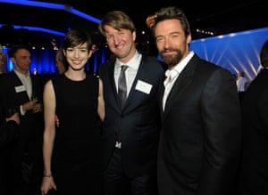Oscars luncheon: Anne Hathaway, Hugh Jackman, Tom Hooper