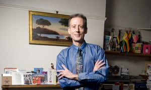Peter Tatchell at his London home. The Australian-born human rights activist will be staging a rally in support of gay marriage.