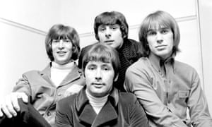 Reg Presley, centre, and the Troggs