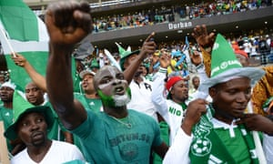 Nigerian fans get in the mood.