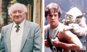 Stuart Freeborn and his Jedi master creation Yoda