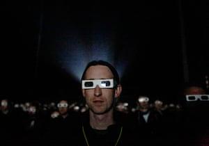 Kraftwerk: The audience wear 3D glasses