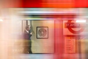 Labyrinth: Mark Wallinger's design at St James's Park Underground station
