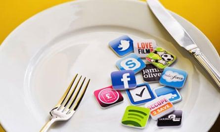 A plate full of app symbols