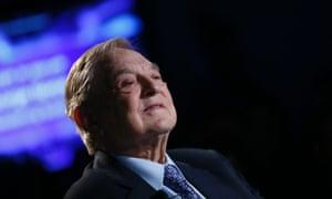 George Soros in Davos last month. Photograph:     Reuters/Pascal Lauener