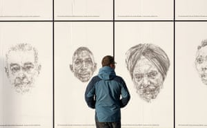 Art on the Underground: Linear, Dryden Goodwin, 2010. Southwark station, Jubilee line series
