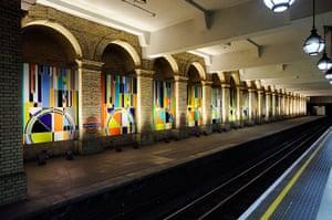 Art on the Underground: Big Ben, 2012 by Sarah Morris, Gloucester Road station