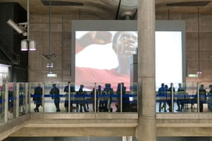 Art on the Underground: Film screen at Canary Wharf