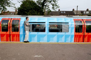 Art on the Underground: Tube Wrap, 2007, by Jim Isermann, Piccadilly line train