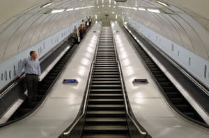 Art on the Underground: Hard Metal Body, by Alice Channer, 2012