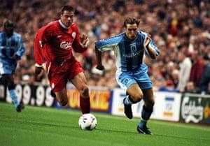 Jamie Carragher's career: Darren Huckerby and Jamie Carragher