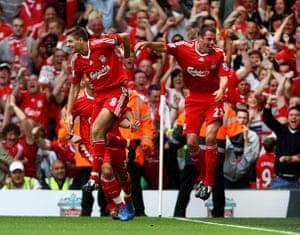 Jamie Carragher's career: Liverpool v Middlesbrough 2008 - Premier League