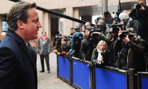 David Cameron arrives for a European Council meeting at the European Council headquarters in Brussels.